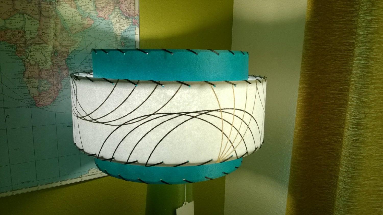 Mid century style 3 tier fiberglass lamp shade retro modern zoom mozeypictures Gallery