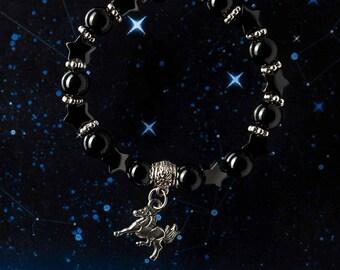 Horse Charm Bracelet, Agate Hematite Bracelet, Horse Bracelet, Horse Lover Gift, Pet Lover Gift, Charity Bracelet, Charity Donation