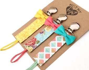 Pacifier Clips - Linda Collection