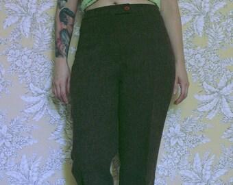 Brown Tweed Pants