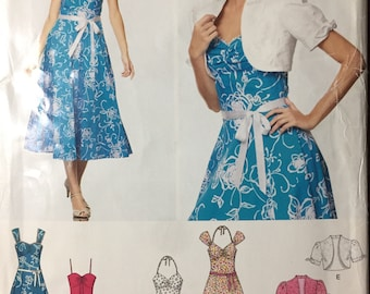 Sun Dress and Bolero Sewing Pattern New Look 6675 Misses  Size 8-18 Bust 30-40 inches   Uncut Complete