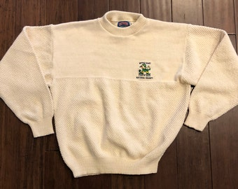 Vintage University of Notre Dame National Championship Knitted White Sweater