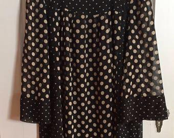 Plus Size Dress, Polka Dot Dress