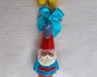 Collie Grunge Festival Kitsch garden GNOME necklace