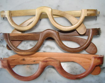 Hand-carved eye glass frames