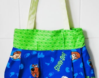 Scooby Doo character logo super hero character handbag tote messenger bag