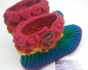 Adult slippers *Made to Order* Crocodile stitch slippers, womens crochet slippers, mens wool shoes, rainbow slippers, dragon scale slippers