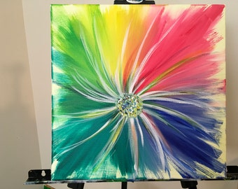 Colorful Bright Flower Painting