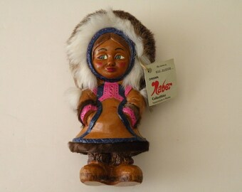 Vintage Original Naber Collectibles Big Sister Eskimo Doll handmade in Alaska