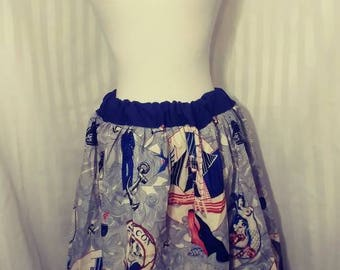 Blue Nautical Skirt Size Small