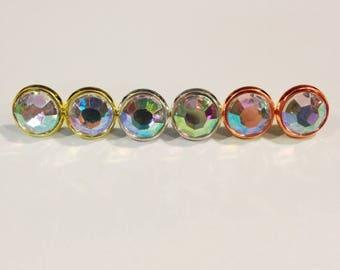 AB Rhinestone Studs, Watercolor Earrings, Aurora Borealis Earrings, Rainbow Studs, Bridesmaid Earrings, Statement Earrings, Unicorn Studs