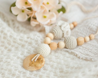 Flower Mama Nursing Necklace - 100% ORGANIC COTTON - KangarooCare Europe