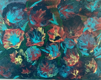 Wild flowers-Acrylic painting on stretched canvas by Rinkysart