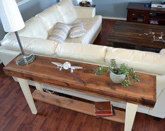 Handmade Wood Sofa Table Farmhouse Style