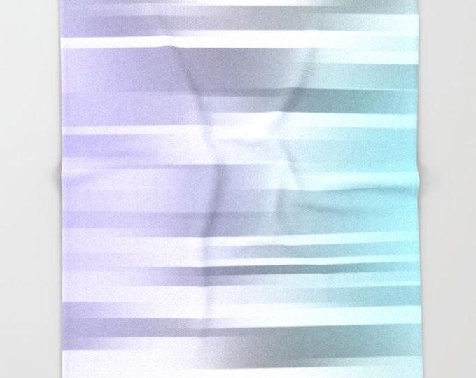Ombre Fleece Throw Blanket - Bedding - Blue - Gray - Purple - Fleece Blanket - Made to Order