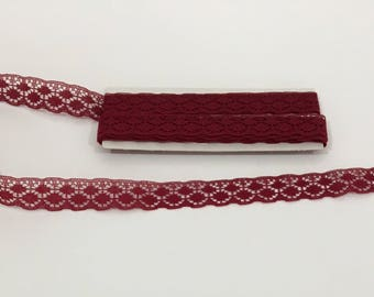 Burgundy Lace Trim, sewing trim embellishment