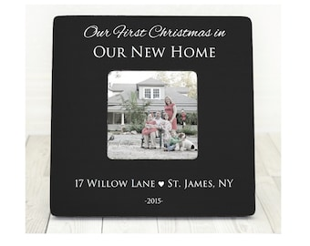 First Home Gift Frame, Our First Home, Christmas Frame Personalized, Custom Gift, Housewarming Gift, New Home, First house, 1st Home