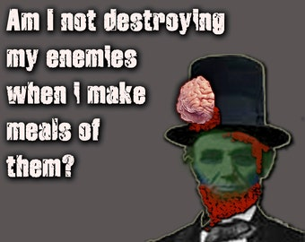 Abraham Lincoln Historical Zombie note card