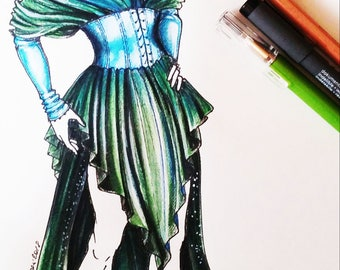 MADE TO ORDER Drag Queen gown, Elven Queen dress Costume, carnival, renaissance outfit