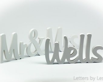Wooden wedding sign, wooden Mr & Mrs with last name, wedding decoration, wedding table decor, wedding gift