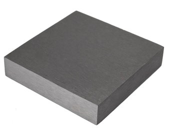 "Steel Bench Block Hammer Stamp Jewelry 4"" x 4"" x 3/4"" Jewelry Making Work Surface Hardened Metal Anvil Tool 4"" Square 3/4"" Thick - FORM-0042"