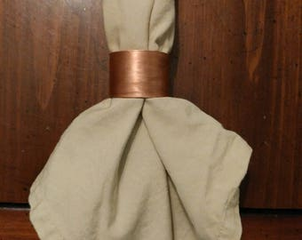 Napkin Rings (Set of 2), copper