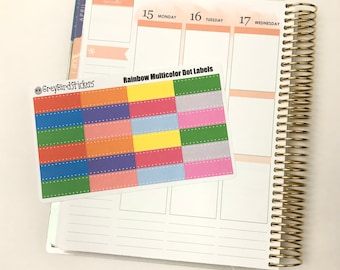 Rainbow Dot Labels || Stickers for any Planner or Journal!