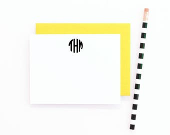 Monogram Stationery Personalized Stationary Set Monogram Flat Note Cards Monogrammed Stationary Personalised Stationery Thank You Note Cards