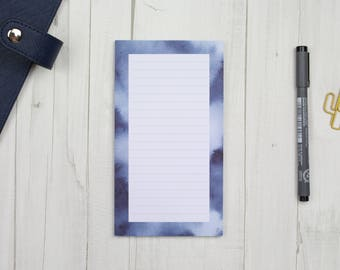 """Notepad """"watercolor blue"""" - 50 sheets - staff"""