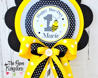 Bumble Bee Centerpiece,  Deluxe XL  Birthday Centerpiece, Bumble Bee Birthday Party