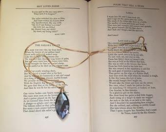 Labradorite Gold Necklace