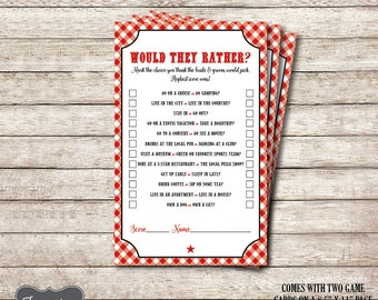 Would They Rather Bridal Shower Game, I do BBQ Games Printable, BBQ Couples Wedding Shower Games, Bridal Shower Games, Printable PDF File