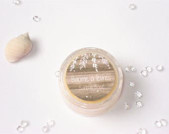 Lip balm sweet woodsy - 100% natural shea butter - 10 ml or 8 g