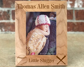 Baseball nursery etsy personalized baby picture frame baseball nursery decor baseball theme baby shower gift negle Image collections