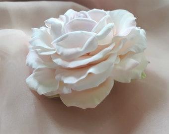 Floral brooch Flower for prom party Brooch rose Handmade brooch Vintage rose brooch Fashion Flower Brooch  Brooch for prom Deco Clay