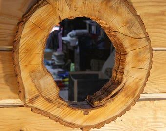 Rustic Hollow Log Live Edge Mirror, Wall Mirror, Mirror, Rustic Mirror, Rustic Decor