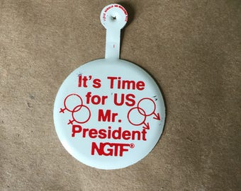 Vintage Gay Rights Button NGIF Button