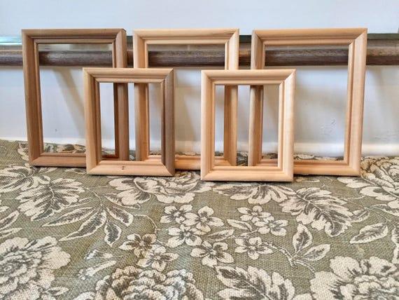 Wood Picture Frames Wood Frame Vintage Frames Art Frame Lot Open ...