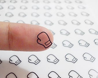 CLEAR Boxing Mitt Planner Stickers, Boxing Stickers, Mitt Stickers, Sport Stickers, Fighter Stickers, Erin Condren Planner Stickers (st258#)