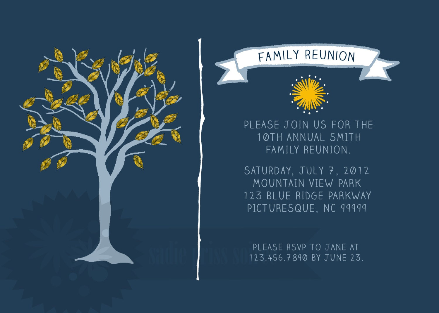 🔎zoom  Family Reunion Invitation Cards