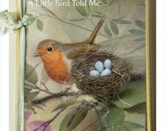 """A Little Bird Told me - Notebook by Charlotte Bird 8 x 6"""""""