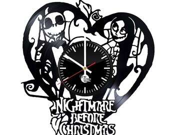 Nightmare Before Christmas Love Vinyl Record Wall Clock
