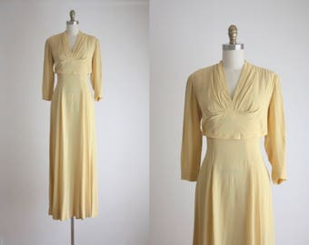 Vintage 1940's Buttercream Gown