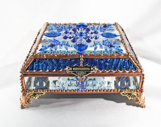 Jewel Encrusted 6x6 SILVER
