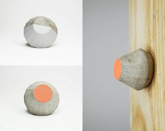 NEW! Concrete Cabinet Knob in a shape of a Truncated Pyramid / Frustum. Variety of colours