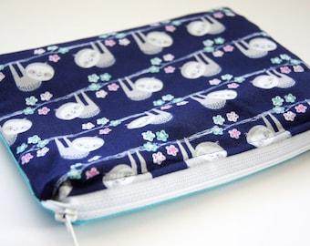 Cute Sloth Accessory Bag/Camera Accessory Bag/Makeup Bag/Zipper Pouch/Camera Gear
