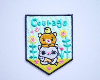 Courage Iron On Patch