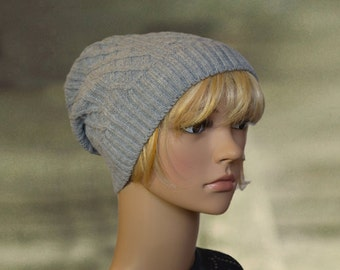 Knit slouchy beanie, Wool slouchy hat, Knitted wool caps, Warm slouchy caps, Slightly slouchy hat, Winter wool hats, Knit warm beanie