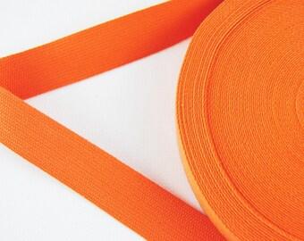 Carrying strap - belt - tape - binding tape - cotton - orange