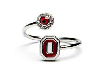 Ohio State Ring | Scarlet and White O Logo | Buckeyes Jewelry | Buckeyes Ring | OSU Jewelry | Ohio State University Jewelry